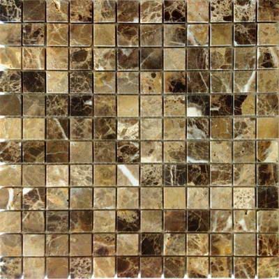 Мраморная мозаика Emperador Dark 23x23 - толщ. 4 мм