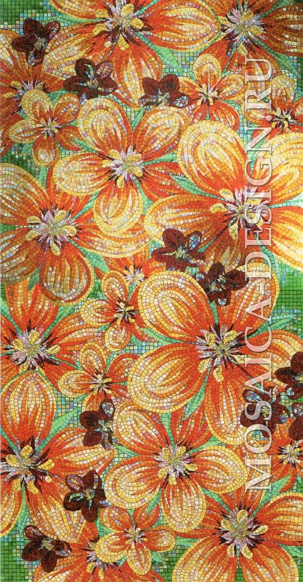 Sicis панно цветы из мозаики Flower power Flo 1Y ACVT035