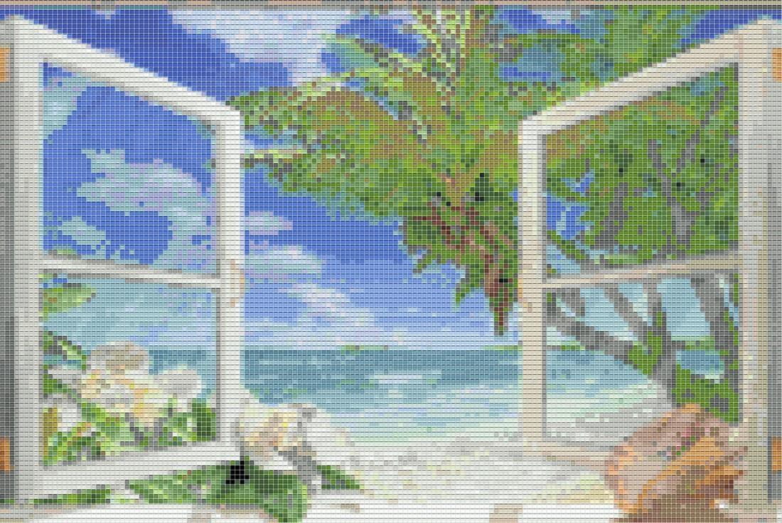 Мозаичное панно для ванной комнаты MPV-70