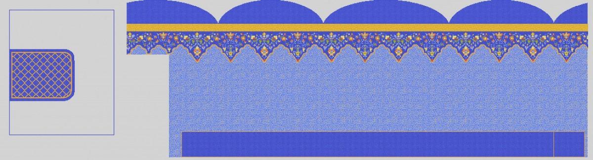 Мозаичное панно для хамама MPX-13