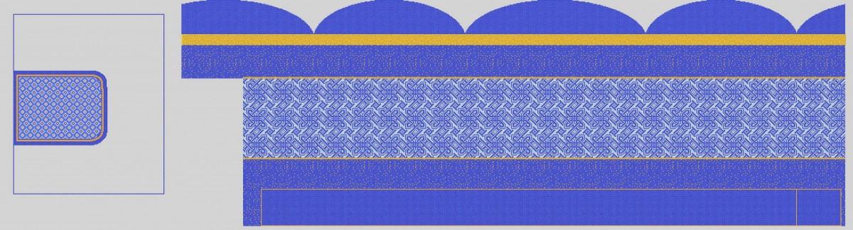 Мозаичное панно для хамама MPX-15