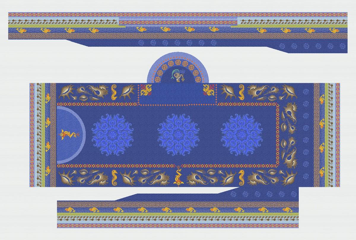 Панно из мозаики для бассейна PMB-14