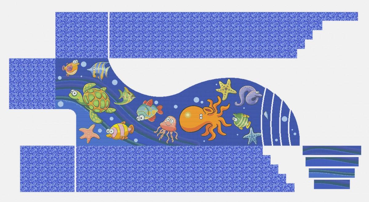 Панно из мозаики для бассейна PMB-24