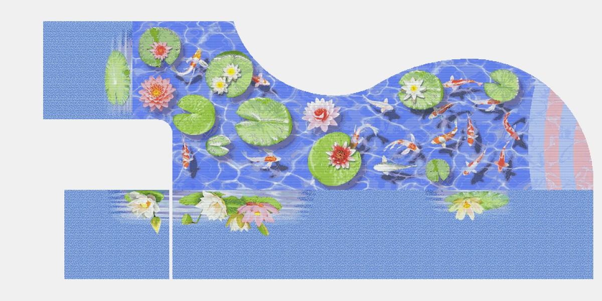 Панно из мозаики для бассейна PMB-42