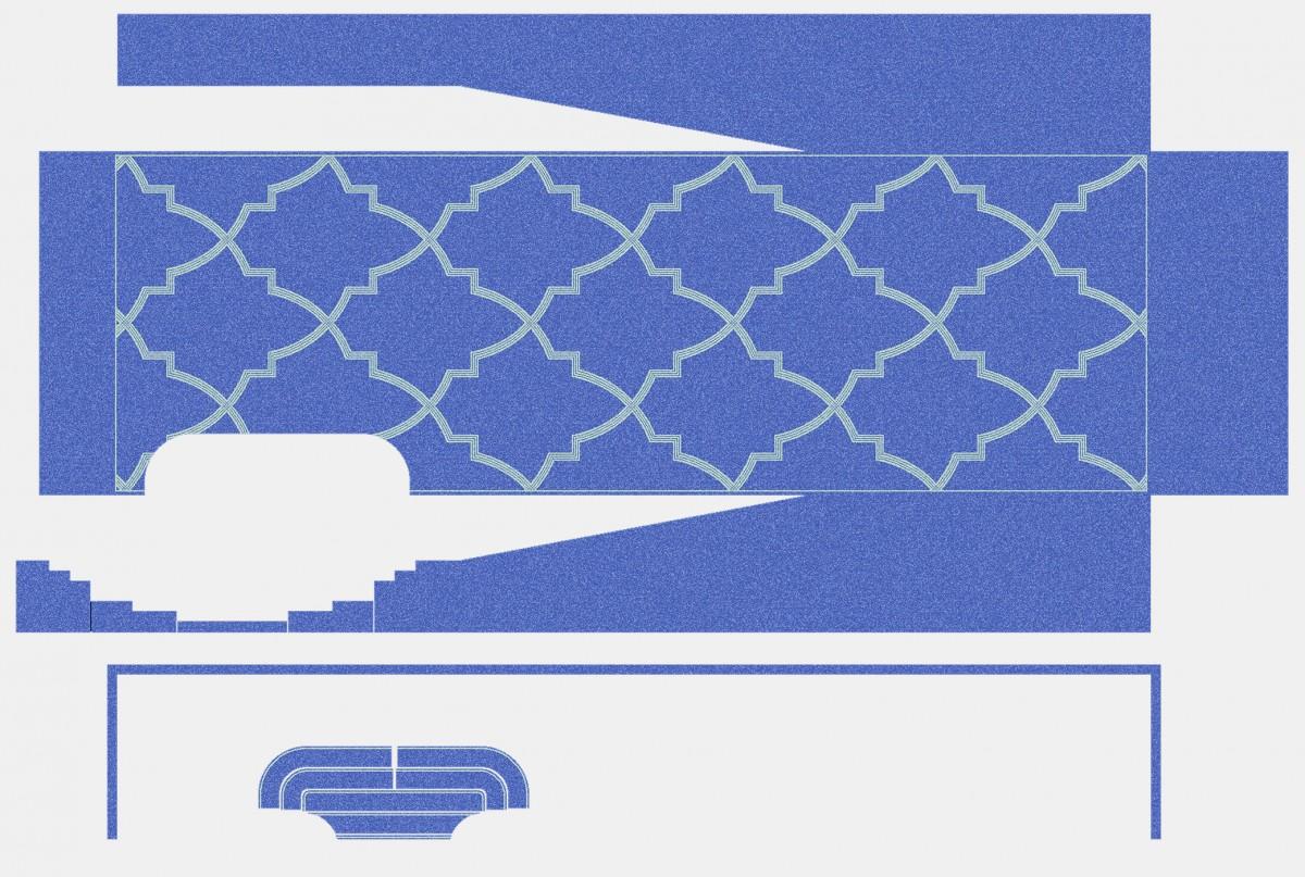 Панно из мозаики для бассейна PMB-53