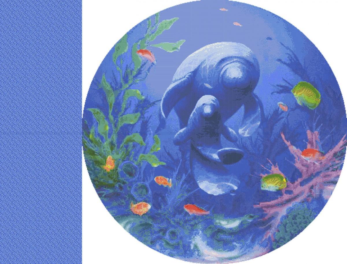 Панно из мозаики для бассейна PMB-57