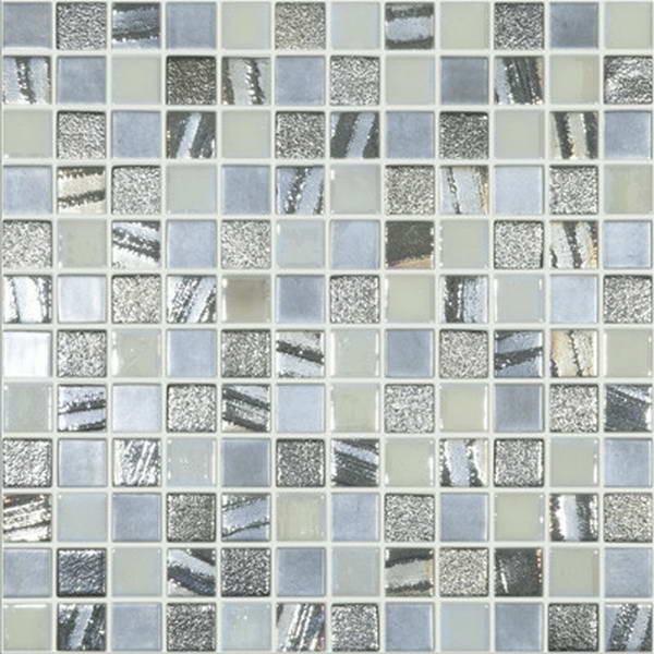Стеклянная мозаика Mixed Saturn № 252/253/409/1046 (НА ПУ СЦЕПКЕ) 31,7Х31,7