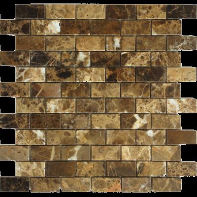 Каменная мозаика Emperador Dark 23x48