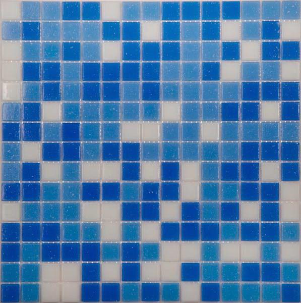 Мозаика для бассейна MIX 14 бело-синий