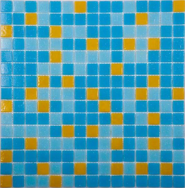 Мозаика для бассейна MIX 10 желто-голубой