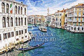 Мозаичное панно из мозаики для ванной ST028