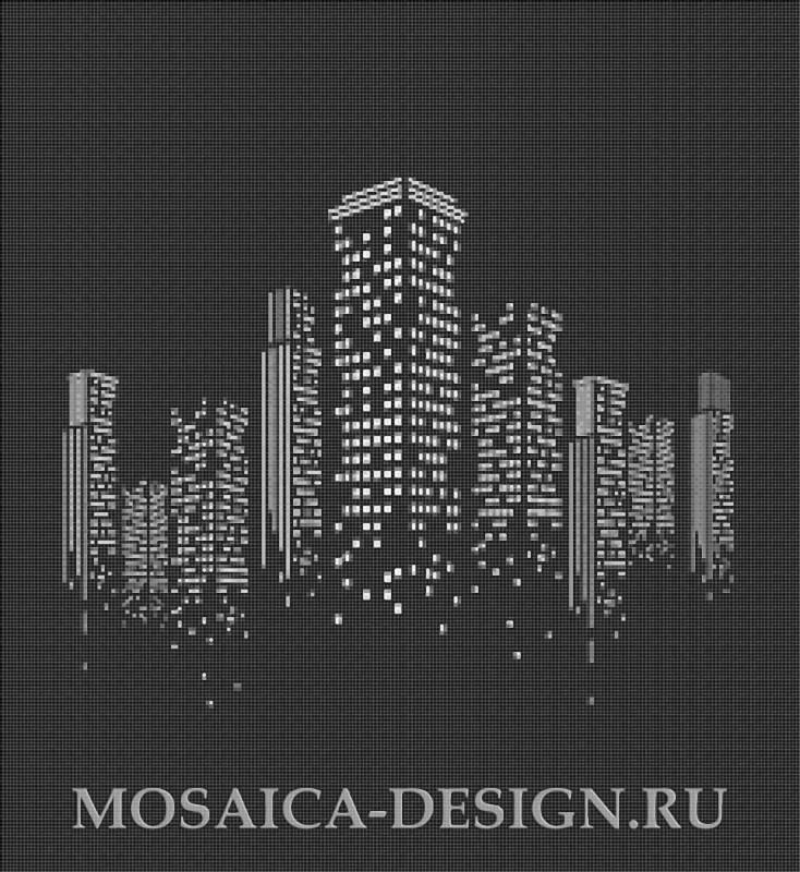 Мозаичное панно из мозаики для интерьера MON036