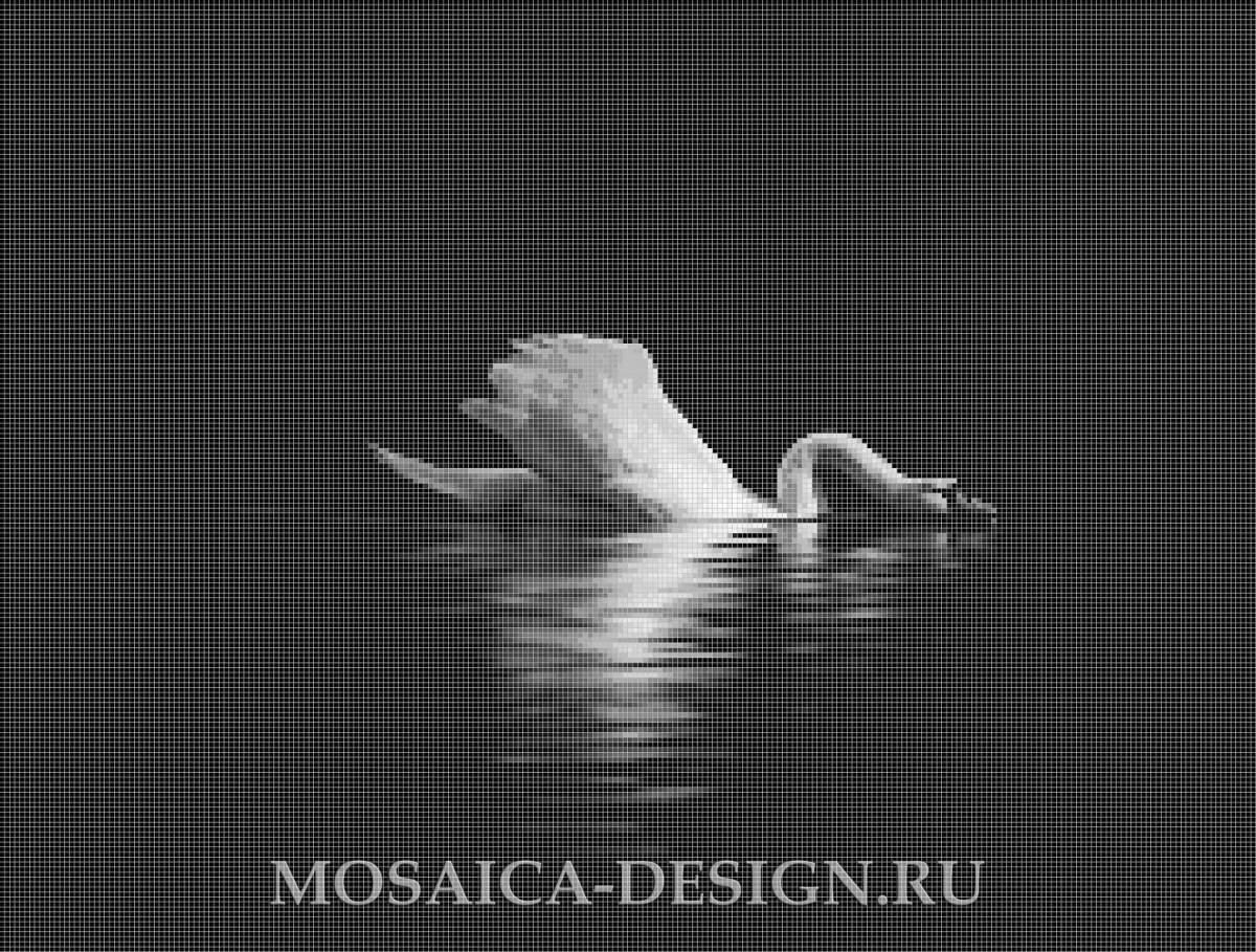 Мозаичное панно из мозаики для ванной комнаты MON060