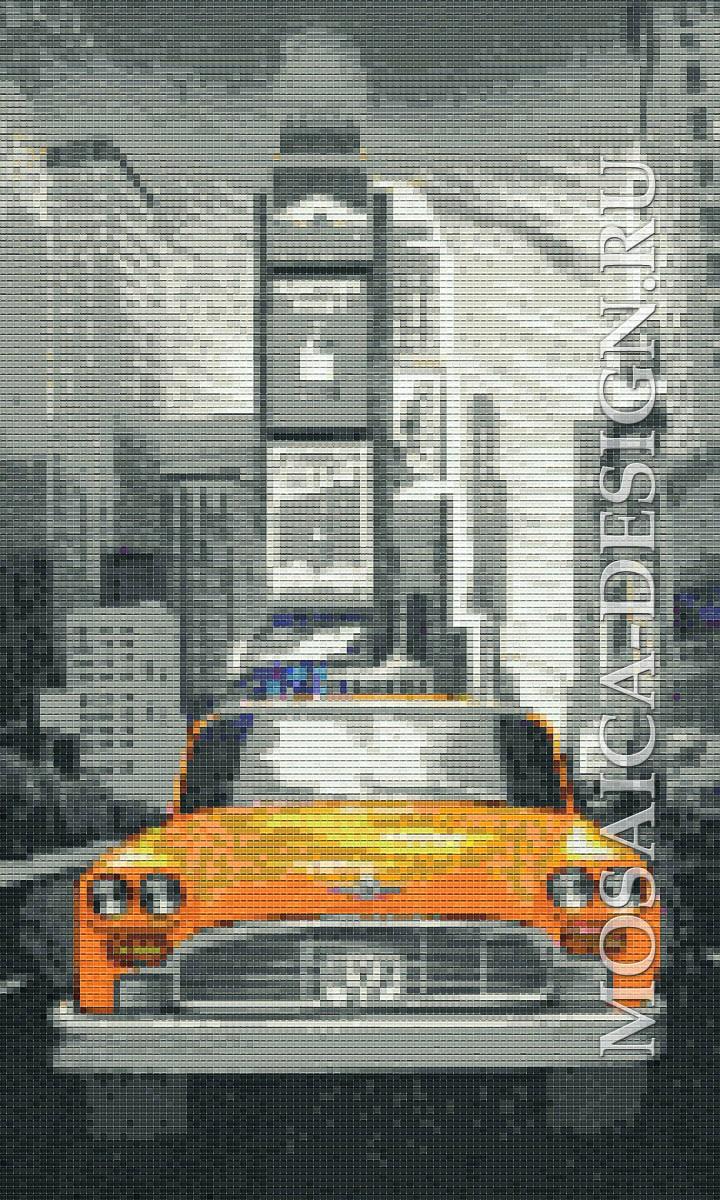 Мозаичное панно из мозаики для прихожей MON064