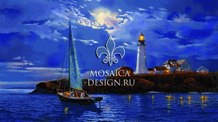 Мозаичное панно из мозаики для гостиной SHIP004
