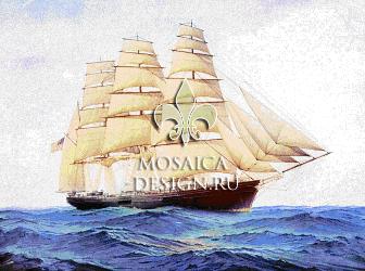 Мозаичное панно из мозаики для ванной комнаты SHIP012