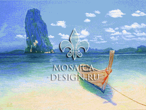 Мозаичное панно для помещения бассейна SHIP017