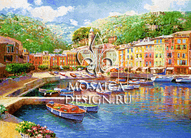 Мозаичное панно из мозаики для ванной комнаты SHIP018