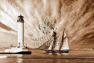Мозаичное панно из мозаики для интерьера SHIP019