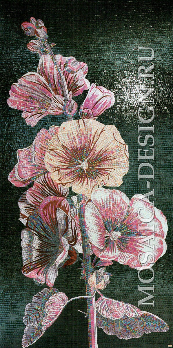 Sicis панно цветы из мозаики Flower power Flo 2c ACVT004