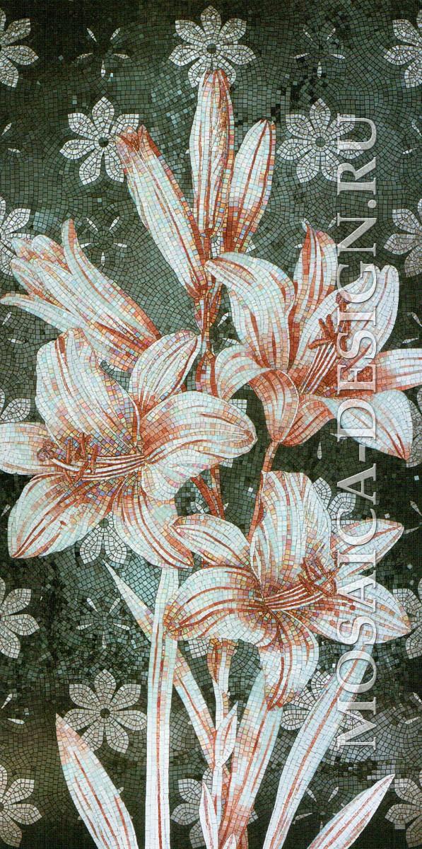 Sicis панно цветы из мозаики Flower power Flo ACVT007