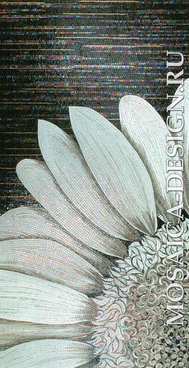 Sicis панно цветы из мозаики Flower power Flo 1bw ACVT012