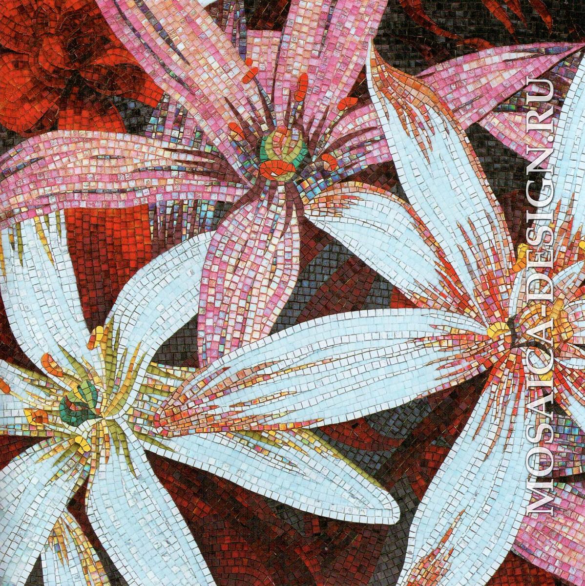 Sicis панно цветы из мозаики Flower power Flo 2r ACVT031