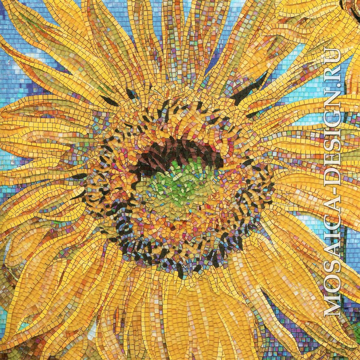 Sicis панно цветы из мозаики Flower power Flo 3Y ACVT037