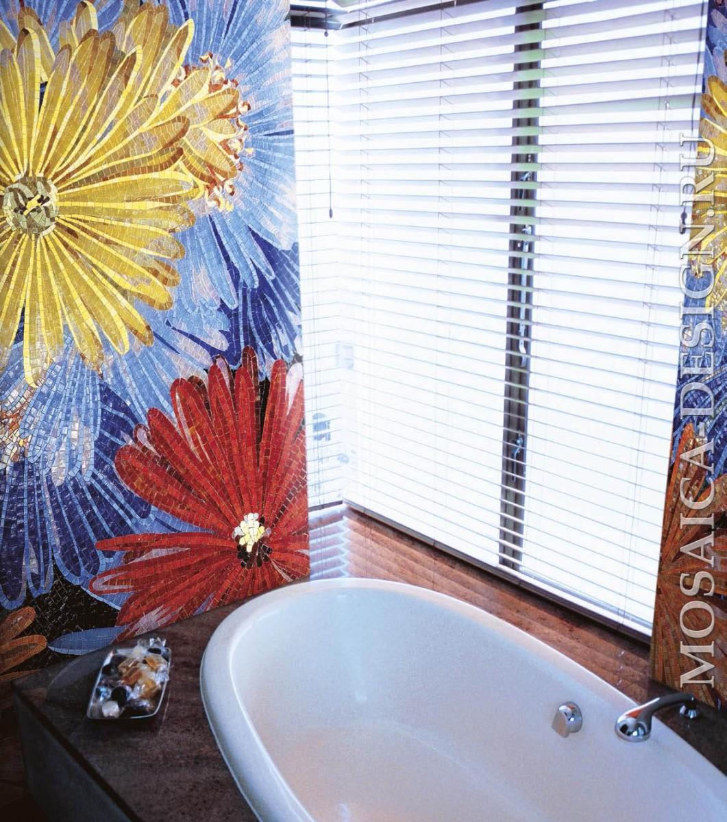 Sicis панно цветы из мозаики Flower power Flo 1B ACVT039