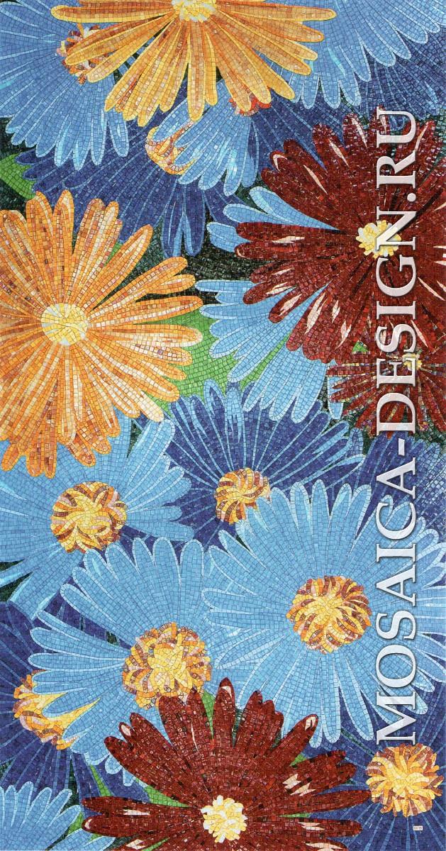 Sicis панно цветы из мозаики Flower power Flo 2B ACVT040