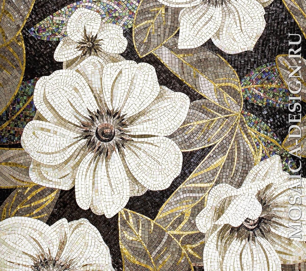 Sicis панно цветы из мозаики Flower power Flo ACVT052
