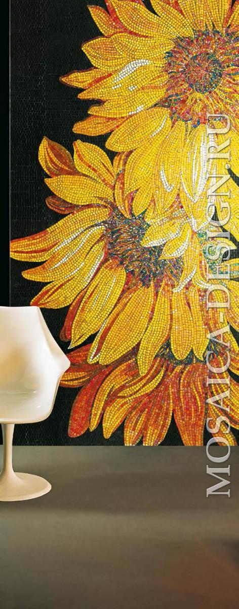 Vitrexmosaici панно цветы из мозаики Artistico ACVT079