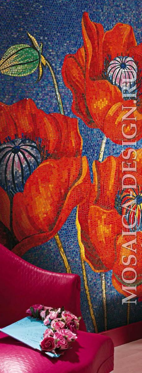 Vitrexmosaici панно цветы из мозаики Artistico ACVT080