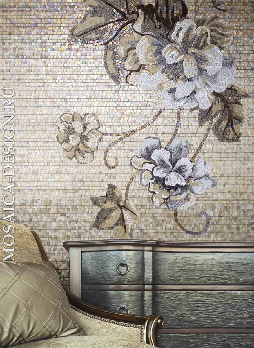 Sicis панно цветы из мозаики Ikebana  ACVT104