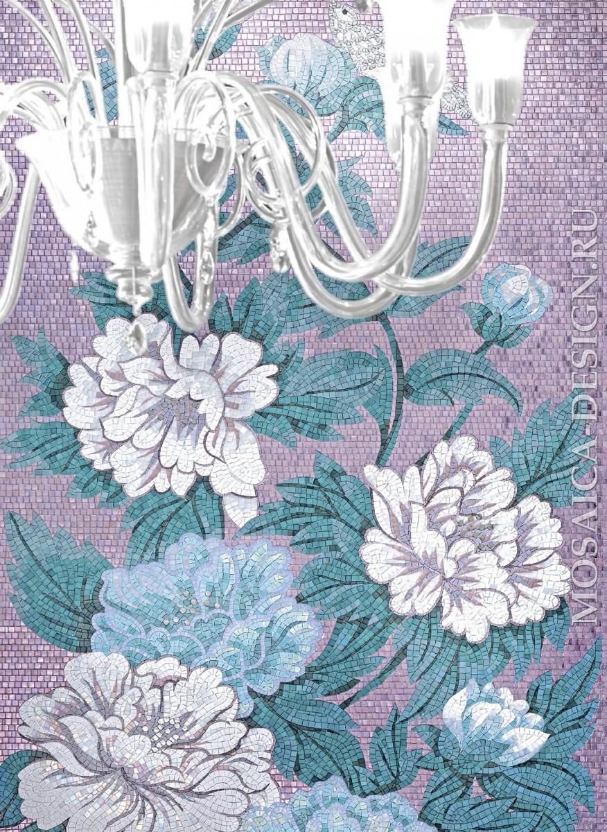 Sicis панно цветы из мозаики Flower power ACVT111