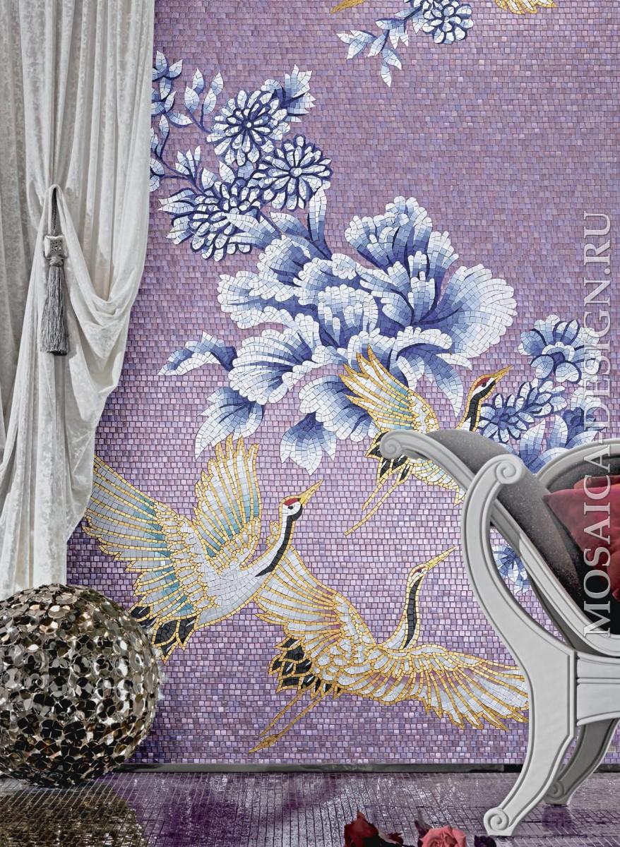 Sicis панно цветы из мозаики Flower power ACVT112