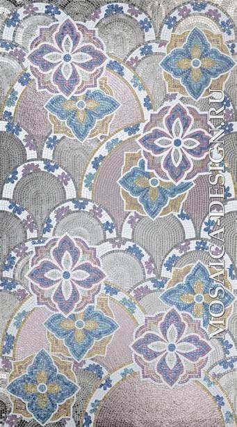 Sicis панно цветы из мозаики Flower power ACVT114