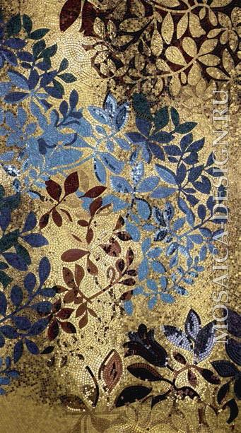 Sicis панно цветы из мозаики Flower power ACVT116