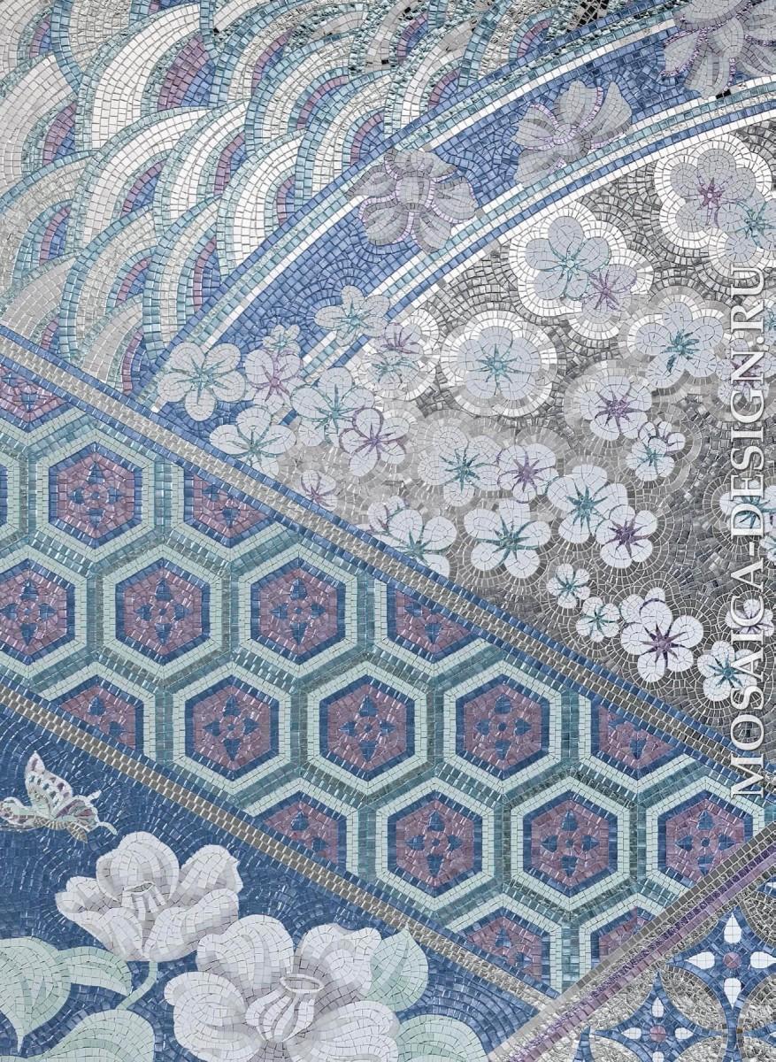 Sicis панно цветы из мозаики Aritaki ACVT121