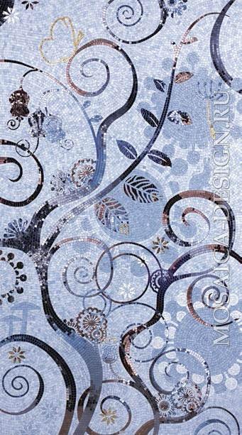 Sicis панно цветы из мозаики Dolium ACVT133