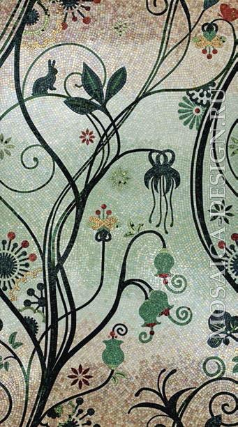 Sicis панно цветы из мозаики Dolium ACVT135