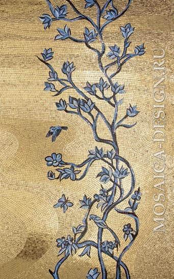 Sicis панно цветы из мозаики Flower power Flo ACVT147