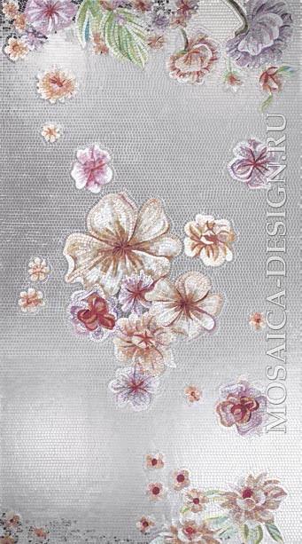 Sicis панно цветы из мозаики Flower power Flo ACVT148