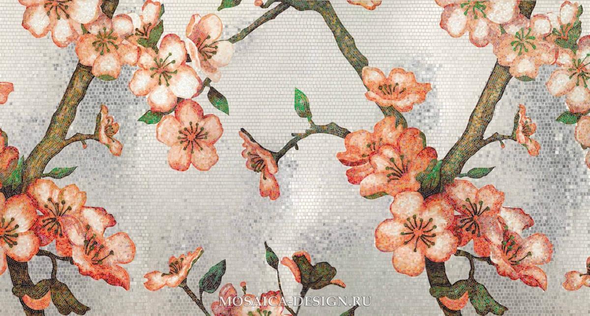 Bisazza панно из мозаики Decorations Flora ACVT153