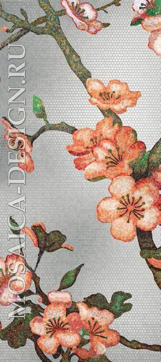 Bisazza панно из мозаики Decorations Flora ACVT154
