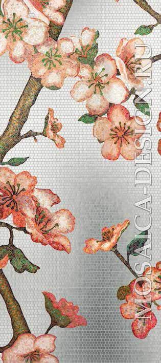 Bisazza панно из мозаики Decorations Flora ACVT155