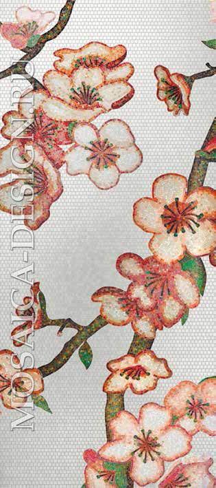 Bisazza панно из мозаики Decorations Flora ACVT156