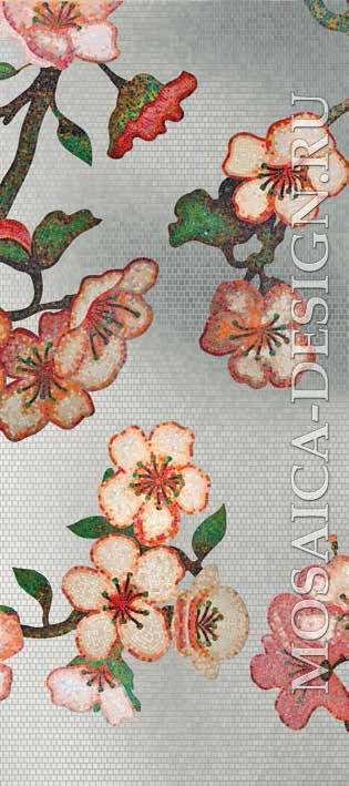 Bisazza панно из мозаики Decorations Flora ACVT157