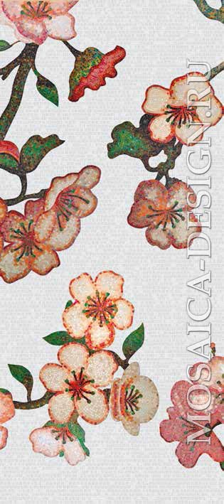 Bisazza панно из мозаики Decorations Flora ACVT161