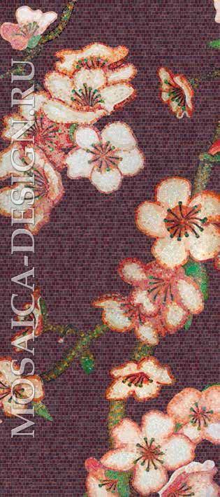 Bisazza панно из мозаики Decorations Flora ACVT164
